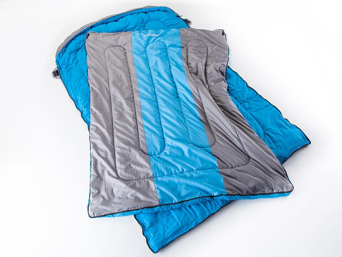 skandika orkney sac de couchage double 2 pers duvet synthetique bleu 13 c neuf ebay. Black Bedroom Furniture Sets. Home Design Ideas