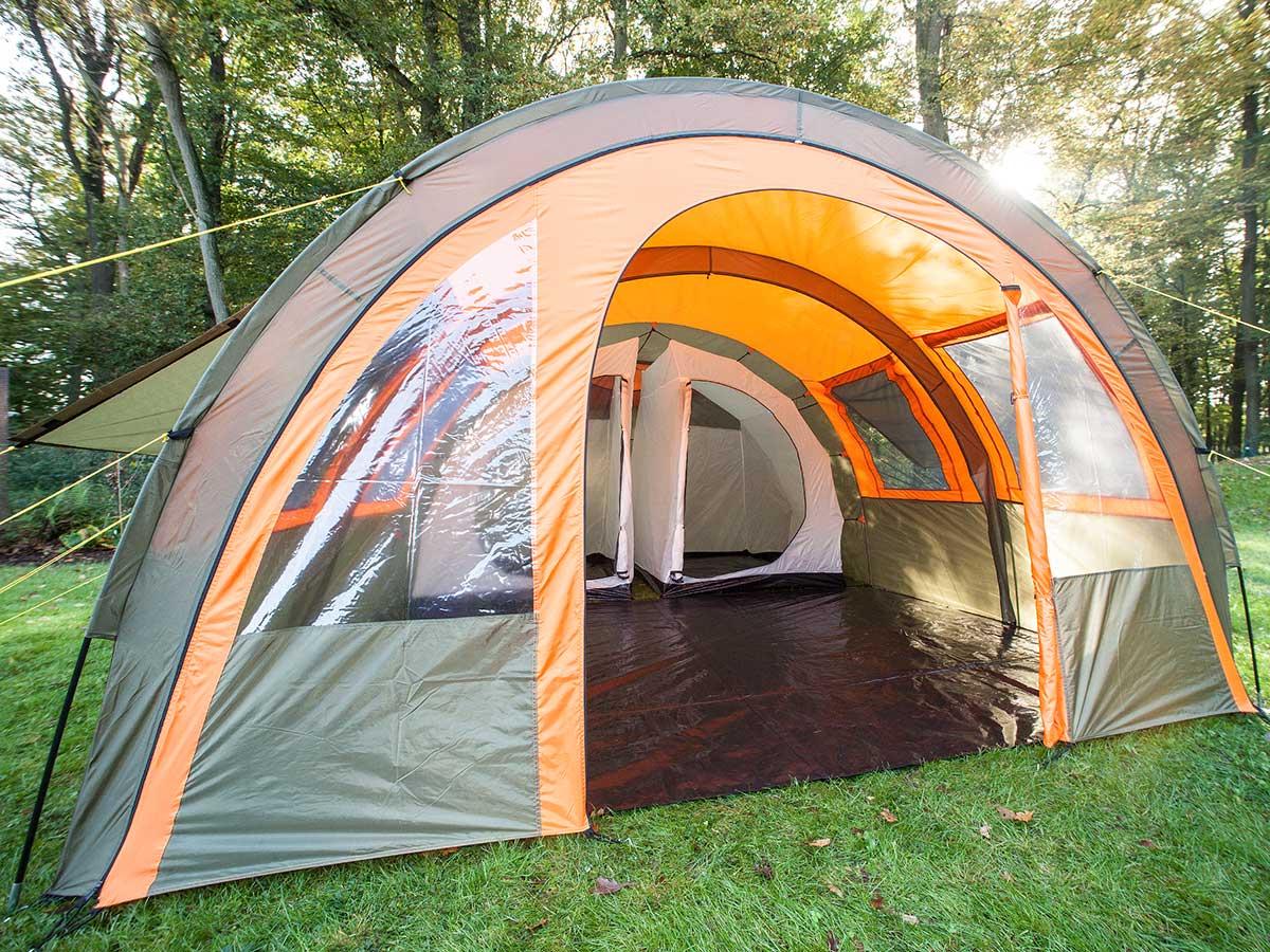 Details about skandika Kemi 4 PersonMan Family Tunnel Tent 3000mm Water Column Orange New