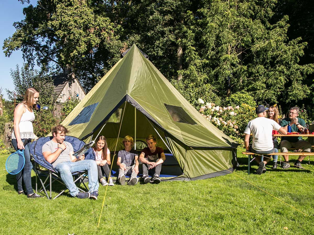 skandika Molde10 Person/Man Teepee Tent Sewn-in Groundsheet Tipii 295cm High New & skandika Molde10 Person/Man Teepee Tent Sewn-in Groundsheet Tipii ...
