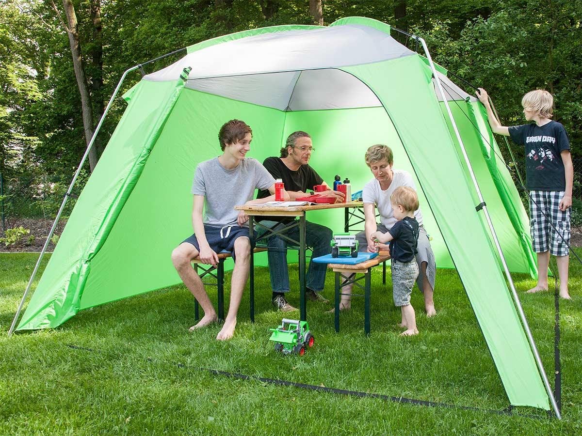 Skandika Pavellón carpa jardín//camping 300x300 cm altura 210 cm verde nuevo