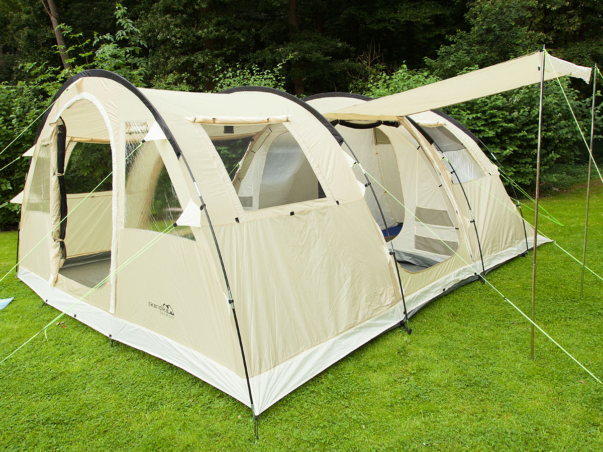 skandika Gotland 6 Person Man Tunnel Group Family Tent Sewn-in Floor Netting New : skandika tent - memphite.com