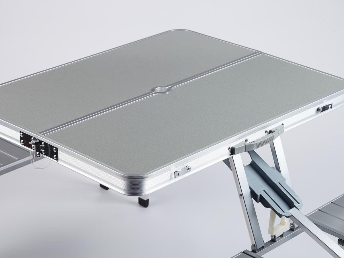 Skandika Picnic Set Folding Camping Table 4 Seats Portable