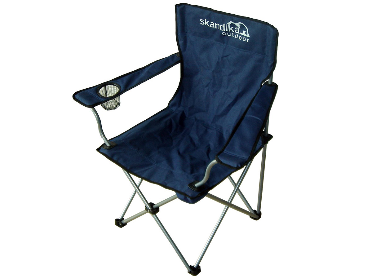 skandika buddy siege chaise de camping pliable bleu poids max 110kg neuf ebay. Black Bedroom Furniture Sets. Home Design Ideas